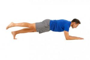 Plancha abdominal con apoyo de un pie